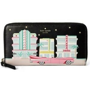 KATE SPADE Checking In Hotel Miami Cadillac Wallet
